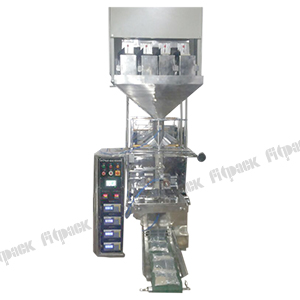 VFFS Servo Bagger with 4 head linear weigh filler