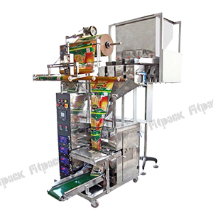 Semi Pneumatic Machine with 4 Head Weigher